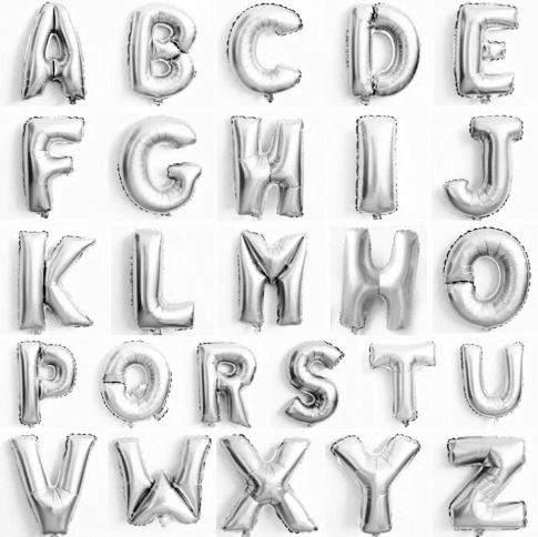 Mini Alphabet Balloon (SILVER)